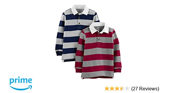 b98d61781 Amazon.com: Simple Joys by Carter's Toddler Boys' 2-Pack Long-Sleeve Rugby  Striped Shirts: Clothing