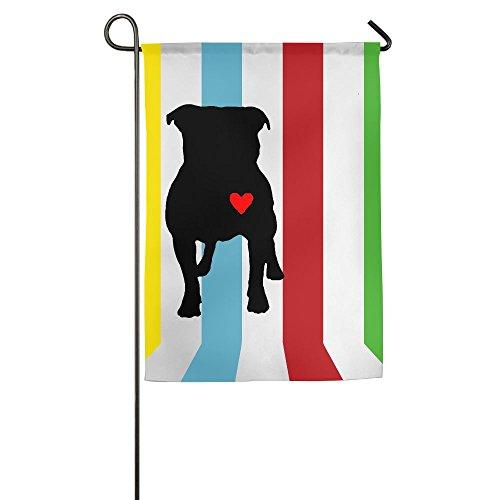 - MM-FLAG Pitbull Heart Home Garden Flag Decorative For Garden Home Welcome Family Flag