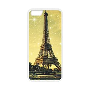 Case Cover for Personalized Case for iPhone 6 Back Cover Case 4.7 inch Screen iPhone (Laser Technology) - London Paris Eiffel Tower Design Case-04