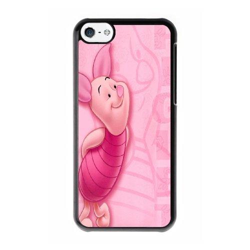 Coque,Coque iphone 5C Case Coque, Porco Do Ursinho Pooh Cover For Coque iphone 5C Cell Phone Case Cover Noir
