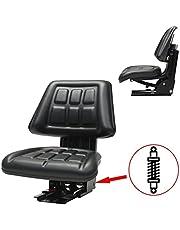 vidaXL Tractorstoel met Ophanging Zwart Tractor Stoel Stoelen Heftruckstoel