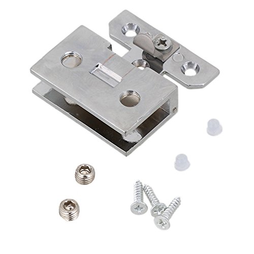 Stainless Steel Wall Mount Glass Wall to Door Clamp Glass Hinge