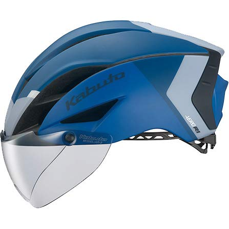 OGK KABUTO(オージーケーカブト) ヘルメット AERO-R1-TR(エアロR-1TR) カラー:G-2マットネイビーブルー サイズ:L/XL(頭囲:59~61cm)   B07MZJHD6X