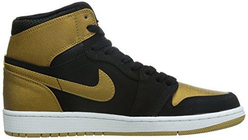 Nike Mænds Air Jordan 1 Retro Høje Sneakers, Talla Sort / Guld / Hvid (sort / Metallisk Guld-hvid)