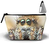 Hanging Toiletry Bag Spider Eyes Hair Legs Travel Trapezoidal Cosmetics Bag