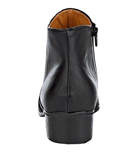 Softwalk Stiefelette mit Praktischem Innenreißverschluss Schwarz