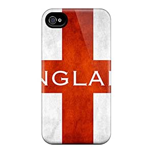Premium Protection England Flag Case Cover For Iphone 4/4s- Retail Packaging