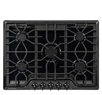 Frigidaire FGGC3047QB 30 Gas Sealed Burner Style Cooktop with 5 Burners, Low Simmer Burner, Spillsafe Cooktop in Black