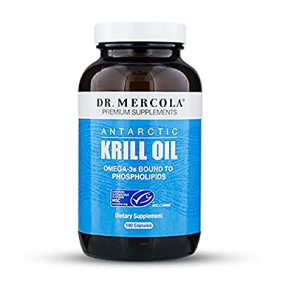 Dr. Mercola Antarctic Krill Oil - 1000mg Omega 3 Supplement with EPA DHA Phospholipids & Astaxathin by Natural Health Partners