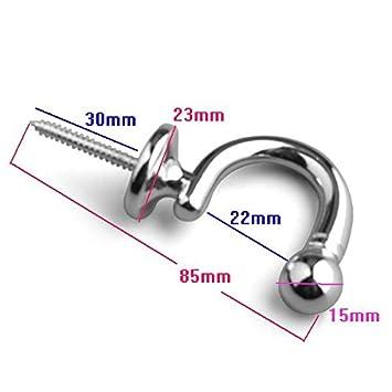 BarthSystème Embrasses à Rideaux avec Crochet diamètre intérieur 22 mm (Nickel)