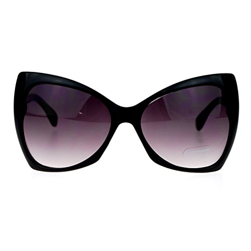 SA106 Unique Oversized Cat Eye Hybrid Butterfly Sunglasses All ()