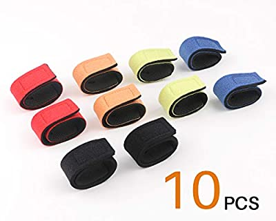 SupsShop 10pcs Fishing Rod Belts Ties Spinning Rods Straps Holders Magic Stick Casting Stretchy Belt for Fly Rods Telescopic Fishing Tackle Accessories Fixing Strap Ropes (Random Color)