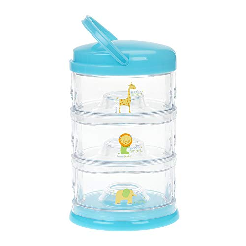 Innobaby Packin' Smart Stackable and Portable Storage System for Formula, Baby Snacks and More. 3 Stackable Cups in Blueberry Sorbet. BPA ()
