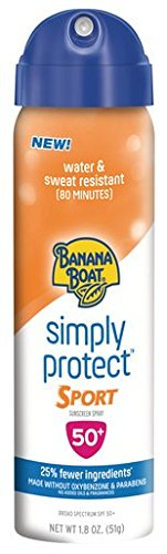 Banana Boat Sunscreen Simply Protect Sport Broad Spectrum Mineral Sunscreen Spray