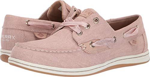 - SPERRY Women's Songfish Linen Boat Shoe, Pink, 070 M US