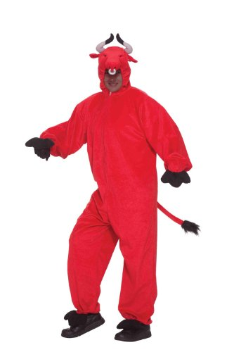 Forum Novelties Men's Crimson Bull Mascot Costume, Red, Standard