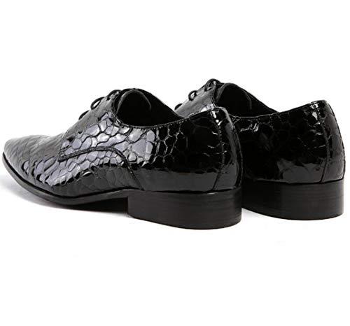 De Negocios Black Individual Negro Adulto Zapatos Vestido Para Hombres Puntiagudo Azul HqFtw4p4
