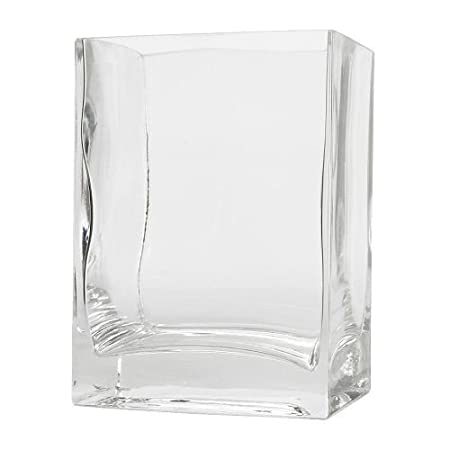 Ikea Rektangel Vase Clear Glass 14 Cm Amazon Kitchen Home