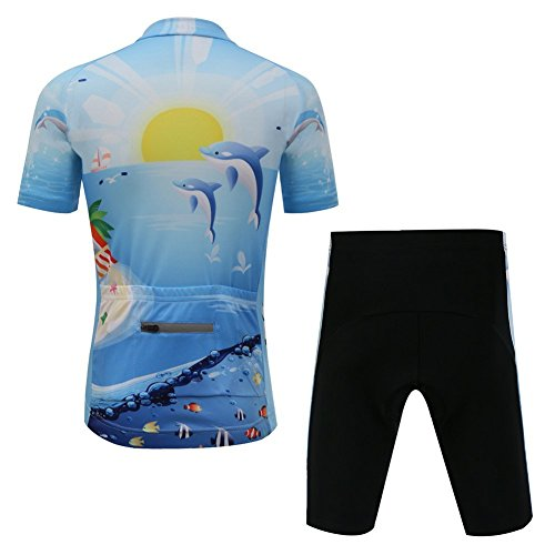 Vivi Pray Kids Cycling Jersey Set (Short Sleeve Jersey + Padded Shorts) by Vivi Pray (Image #1)