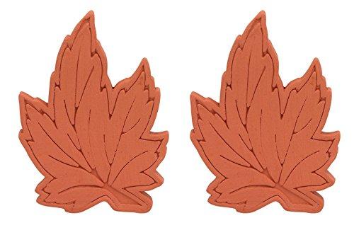 Brown Sugar Bear Original Brown Sugar Saver and Softener, Terracotta, Maple Leaf, Set of 2