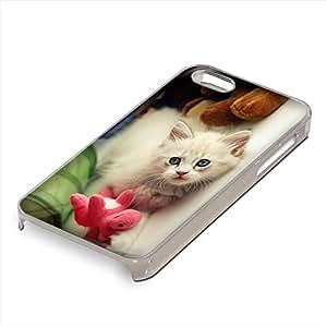 Gatos 077, Custom Claro PC Ultradelgado Caso Duro Carcasa Funda Protección Tapa Hard Case Cover Shell con Diseño Colorido para Apple iPhone 5 5S.
