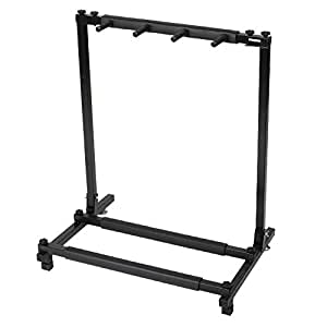 multi guitar stand with 3 holder folding guitar display rack for band stage bass. Black Bedroom Furniture Sets. Home Design Ideas