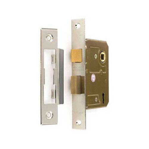 Securit S1835 3 Lever sash Lock NP 75mm, Gold