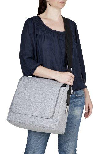 Lässig bolsa de pañales - Green Label - Pequeña actualización Messenger Bag - Denim Blue - Nuevo dibujo