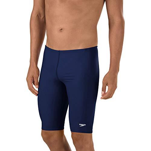 Speedo Men's Swimsuit-Solid Jammer, Powerflex Eco, 36, Speedo Navy