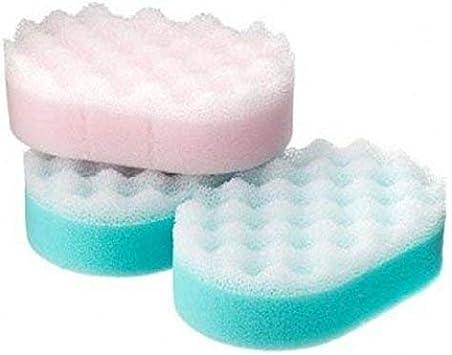 Coral Pack de 3 esponjas de masaje: Amazon.es: Salud y cuidado personal