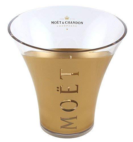 Moet & Chandon Champagne Ice Bucket Bottle Cooler Gold/Transparent a Magnum 1.5 Litre 0.75 Litre Bottle