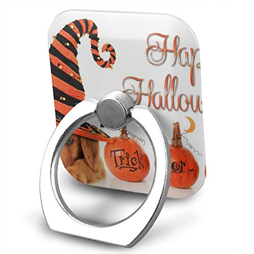 Phone Ring Finger Holder, Square Happy Halloween Printed Universal Smartphone Holder Stand, Cell Phone Ring Finger Holder Grip Almost All Phones/Pad]()