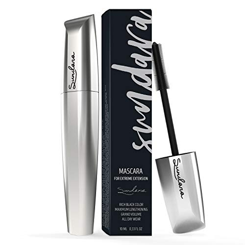4D Silk Fiber Lash Mascara, Lengthening and Thick, Long Lasting, Black Mascara & Smudge-Proof, All Day Exquisitely, Full, Long, Thick, Smudge-Proof Eyelashes