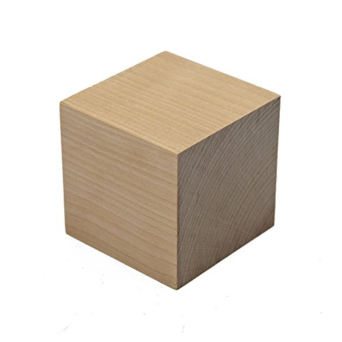 "Wooden Cubes - 1-1/2 Inch - Wood Square Blocks for Photo Blocks, Crafts & DIY Projects (1-1/2"") - by Craftparts Direct - Bag of 10"