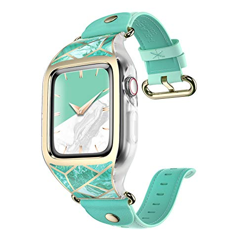 i-Blason Band Designed for Apple Watch 4 / Watch 5 [44mm], [Cosmo] Stylish Sporty Protective Bumper Case with Adjustable Strap Bands for Apple Watch Series 4 2018 / Series 5 2019 (Green)
