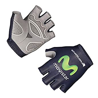 Endura Movistar Race Mitt- Blue Green, Medium