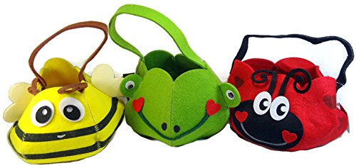 [Children's Ladybug, Bumblebee & Frog Costume Bags Baskets - Set of 3] (Ladybug Costume Makeup)