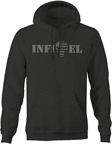 Stealth - INFIDEL Punisher US Flag Skull - Military Police T shirt - Large