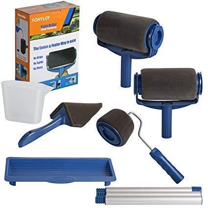 FOHYLOY Set di Rullo per Pittura Multifunzione Rrofessionale Rulli da Pittura Paint Roller Pro Decorate, Paint Rullo Kit,Velocemente Runner Spazzola