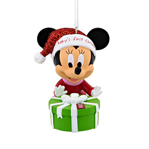 Hallmark Christmas Ornament, Year Dated 2016 Disney Minnie Mouse Babys 1st First Christmas