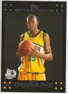 2007 2008 Topps NBA Basketball Complete Mint 135 Card Hand Collated Set Featuring Kevin Durant Rookie Card Complete M (Mint) ()