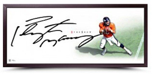 """PEYTON MANNING Signed""""The Show"""" 46 x 20 Framed Lithograph UDA"""
