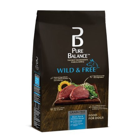 Pure Balance Wild & Free Bison, Pea & Venison Recipe Food for Dogs 4lbs
