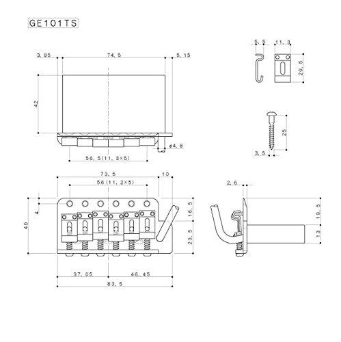 Gotoh Relic Series Tremolo Bridge Steel Saddle & Block
