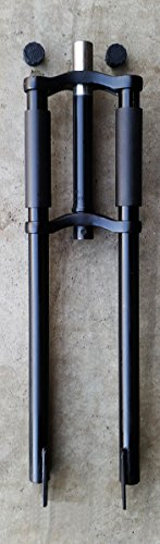 """Fito Triple Tree Chopper Fork, 23"""", Matte Black, with Disk Brake Mount Ready for Beach Cruiser Bikes Bicycles"""