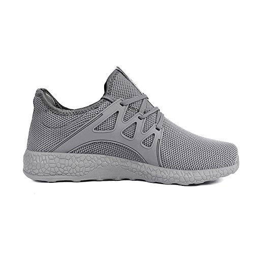 Feetmat Womens Sneakers Ultra Lightweight Breathable Mesh Athletic Walking Running Shoes Grey 6