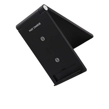 Morza Teléfono móvil inalámbrica 10W Cargador rápido QI Lanzador Vertical Plegable Soporte Soporte de sobremesa