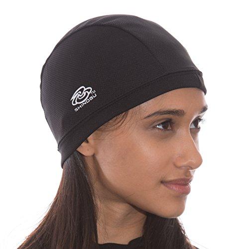 Shinobu Sports INVISTA COOLMAX Quick Drying Hat & Helmet Skull Cap (2-IN-A-SET) BLACK SR-007