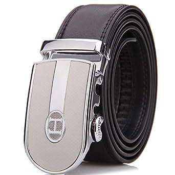 Silver Leather Belt For Men