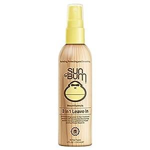 Sun Bum Beach Formula 3-in-1 Leave-In Hair Conditioner Spray, 4 oz Spray Bottle, 1 Count, Detangler, UV Protection, Paraben Free, Gluten Free, Vegan, Color Safe